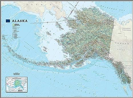 National Geographic\'s Alaska State Map Wall Mural -- Self-Adhesive ...