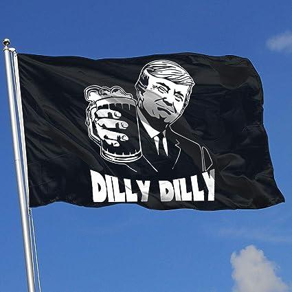 dbf48cd0cc896 Amazon.com  JYIU Donald Trump Bud Light Official Dilly DillyHouse Flag  Garden Flag Yard Banner Garden Flag 3 X 5  Sports   Outdoors