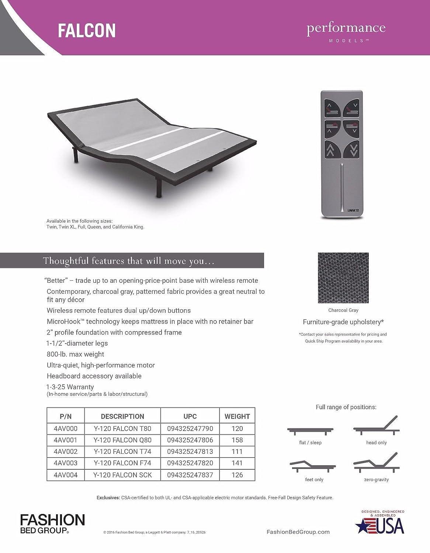 Amazon.com: New leggett & platt FALCON adjustable bed with wireless ...
