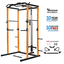 Vanswe Power Rack Squat cage with pully