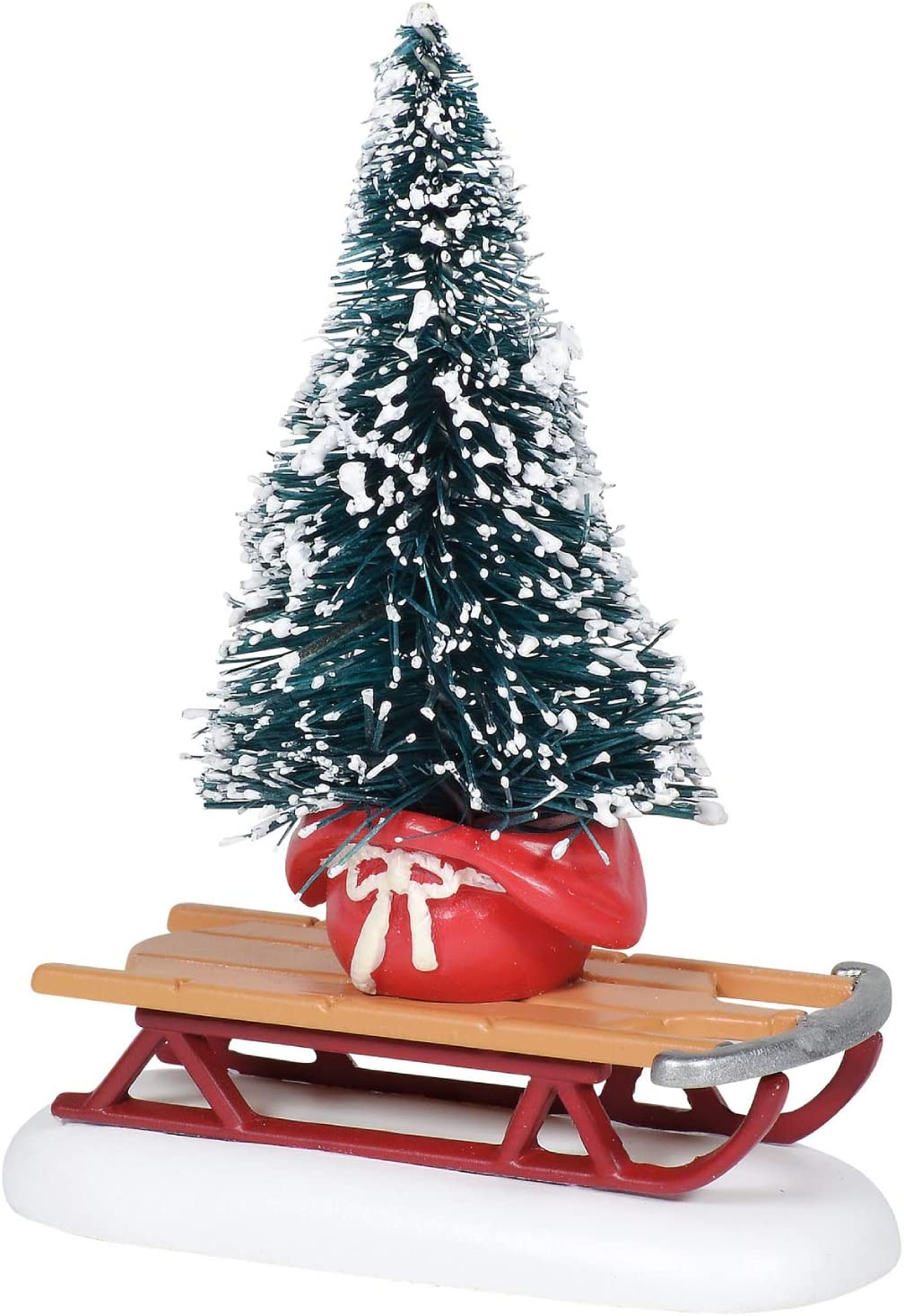 Department 56 Village Collection Accessories Christmas Sled Figurine, 3.25 Inch, Multicolor