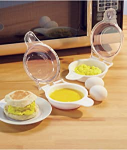 Trenton Gifts Microwave Egg Cooker/Poacher, Easy Scrambled Omelet Maker, Breakfast Cookware