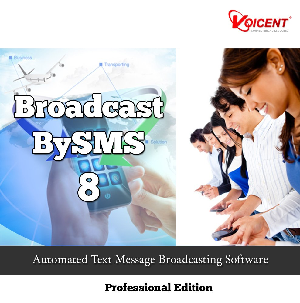 Voicent BroadcastBySMS Pro 8 [Download] by Voicent Communications