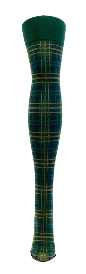 1920s Style Stockings & Socks Plaid Thigh High Socks $14.20 AT vintagedancer.com