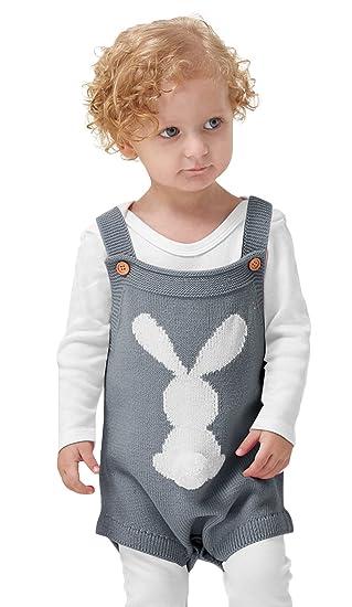 1c876fc887c7c0 (ラボーグ) La Vogue ベビー服 ロンパース 子供 男の子 女の子 ニット セーター うさぎ柄 可愛い 秋冬