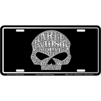 CHROMA 55001 Harley-Davidson Skull Stamped License Plate: Automotive [5Bkhe1508528]