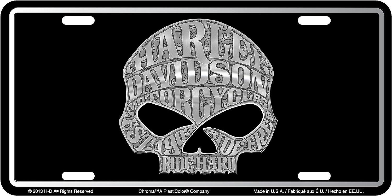 Chroma 55001 Harley-Davidson Skull Stamped License Plate