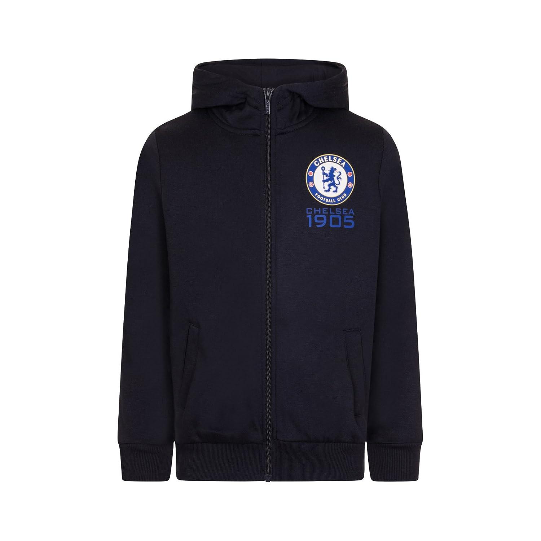 Chelsea FC - Sudadera oficial con capucha y cierre de cremallera - Para  niño - Forro 50855bd5d1f