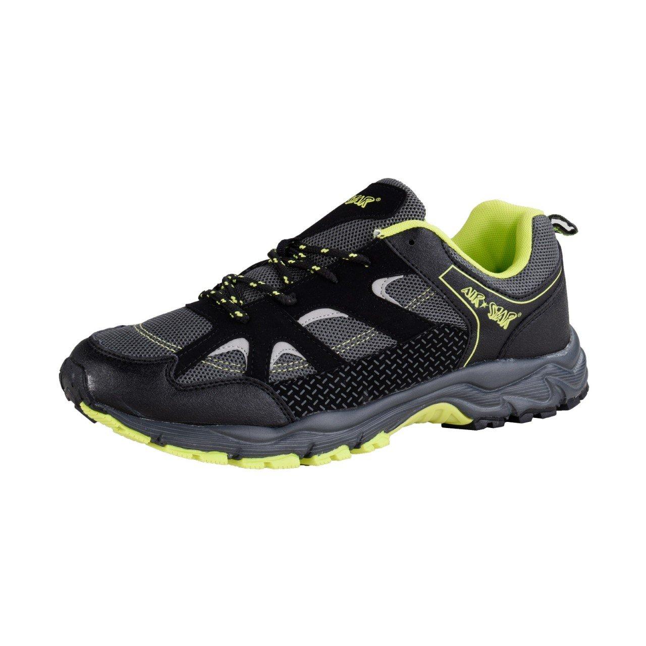 HSM Schuhmarketing - Zapatillas para correr en montaña para hombre negro negro 44 EU negro