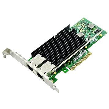 Semoic Tarjeta de Red Nic PCI-E de 10 GB, para X540-T2 con Chip Intel