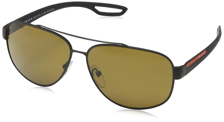 67f28fa29740 Prada LJ SILVER PS58QS Sunglasses DG05Y1-60 - Black Rubber Frame ...