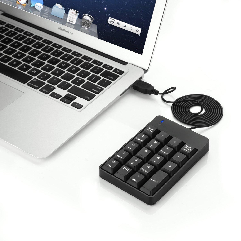 Jelly Comb Delgado Ultra Teclado Num/érico para Ordenador Port/átil o PC Negro. Teclado Num/érico con Cable