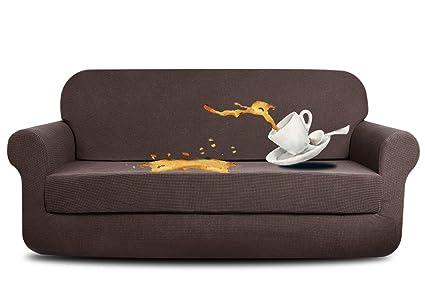 amazon com aujoy stretch 2 piece sofa covers water repellent dog rh amazon com Waterproof Couch Covers dog proof sofa covers uk