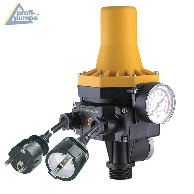 PUMPENSTEUERUNG DRUCKSCHALTER Druckwächter Automatic-Controller Durchflusswächter AC3 verkabelt für Hauswasserwerk Pumpe Brun