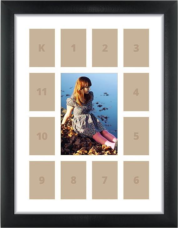 1WB3BK1624L-4 Craig Frames 16x24 Inch Modern Black Picture Frame Set Set of Four Contemporary 1 Wide
