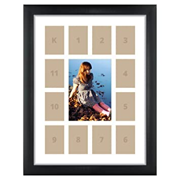 craig frames 1wb3bk 12 by 16 inch black picture frame single white collage mat