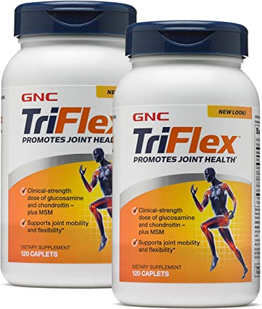 GNC TriFlex, Twin Pack, 120 Caplets per Bottle, Promotes Joint Health and Mobility