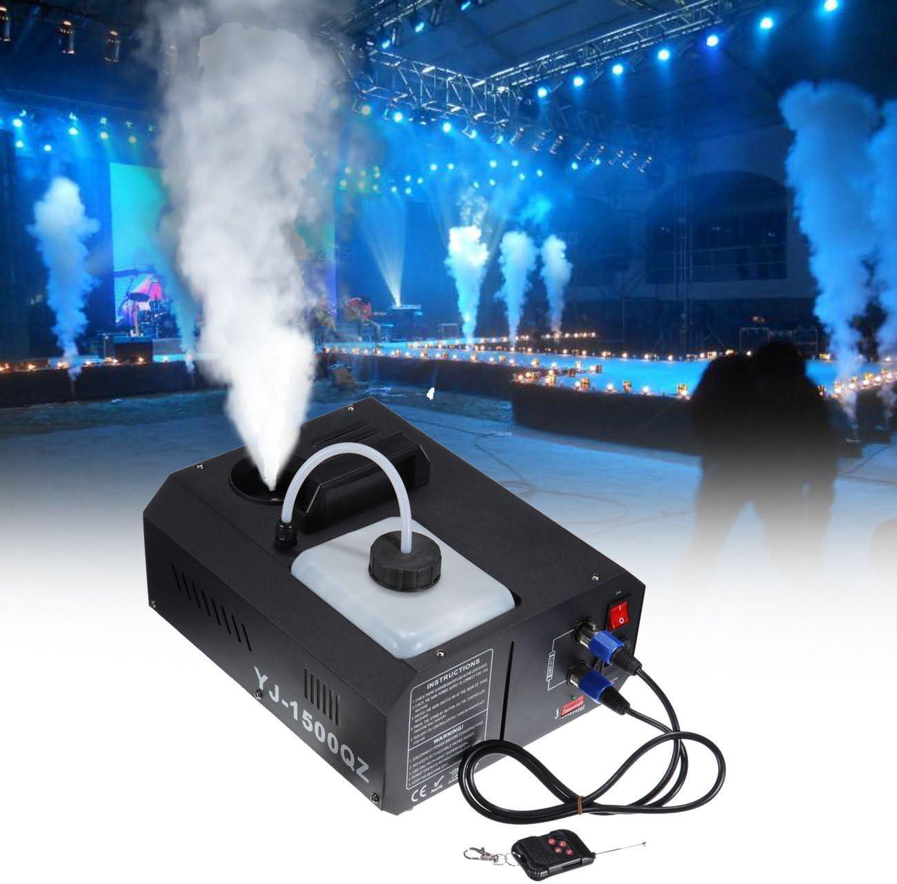 Ridgeyard DMX Maquina de Humo 1500W máquina de la niebla 2L con mando a distancia para Stage boda disco DJ bar Party spray hasta 3m