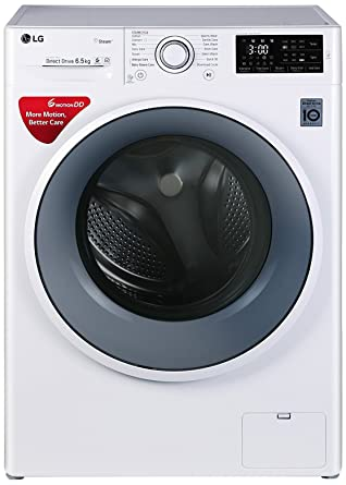LG 6.5 kg Inverter Fully-Automatic Front Loading Washing Machine (FHT1065SNW.ABWPEIL, Blue and White)