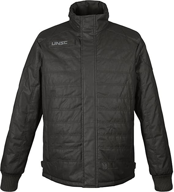 Musterbrand Halo Chaqueta Hombre UNSC Outpost Padded Quilted Winter Coat Gris: Amazon.es: Ropa y accesorios