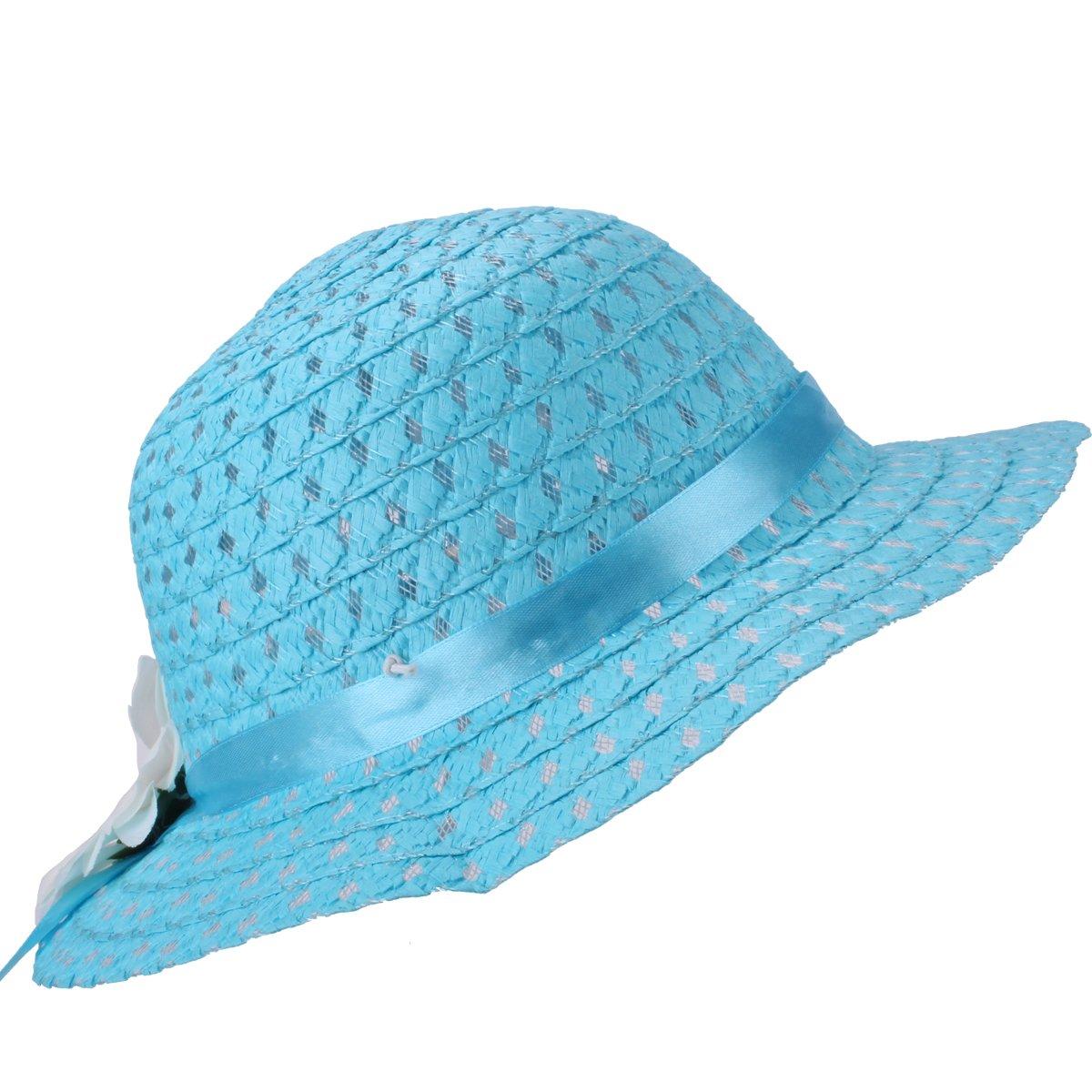 YOPINDO B/éb/é Paille Chapeau d/ét/é Filles Chapeau Sac /à Main Plage Plage Disquette Chapeaux Enfants Chapeau de Soleil avec Sac