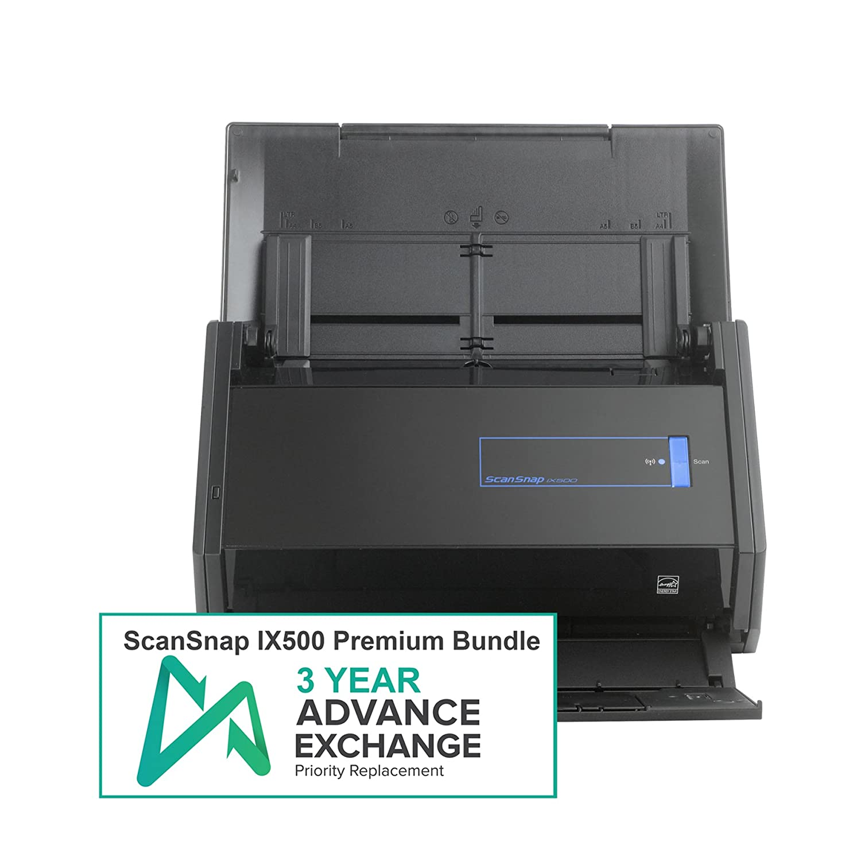 Amazon.com: Fujitsu ScanSnap iX500 Premium Bundle with 3 Year ...