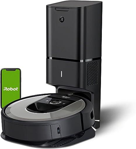 Robot aspirador iRobot Roomba i7+ (i7556) con Vaciado automático, Alta potencia, Para mascotas, Programa por habitación, Limpia por objeto, Sugerencias personalizadas, Compatible con asistentes voz: Amazon.es: Hogar