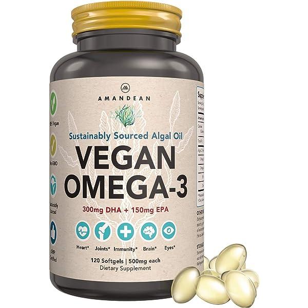Amazon Com Estora Omega 3 Dha Algae Vegan Microalgae Algal Oil Supplement 60 Soft Gel Capsules Health Personal Care