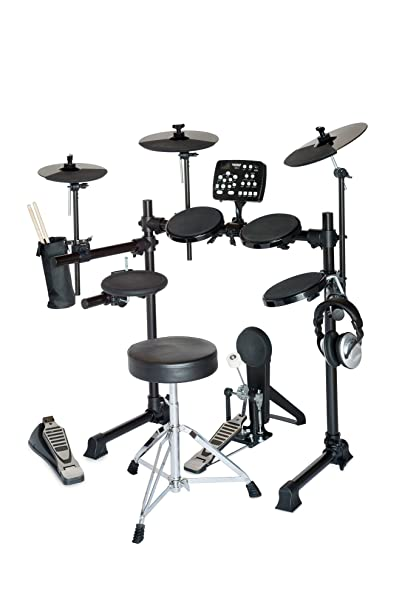 Amazon Com Hitman Hd 5 Deluxe Electronic Drum Set With Throne And