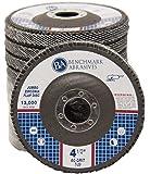 "4.5"" x 7/8"" Premium High Density Jumbo Zirconia Type 29 Flap Disc 60 Grit - 10 Pack"