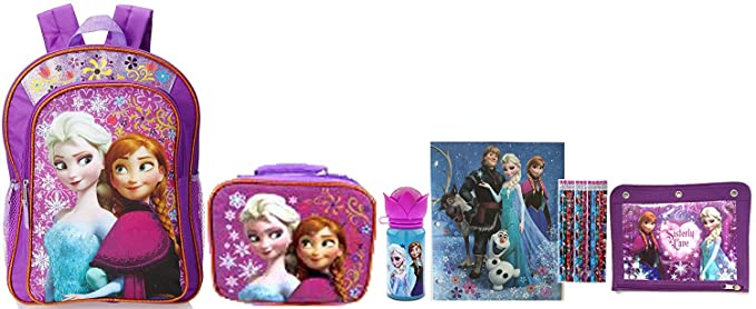 4837c51aafe Disney Frozen Backpack and Lunch Box Set- Back to School Essentials