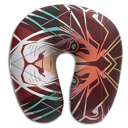 WSXED - Almohada para el Cuello de Tatuaje con diseño de león ...