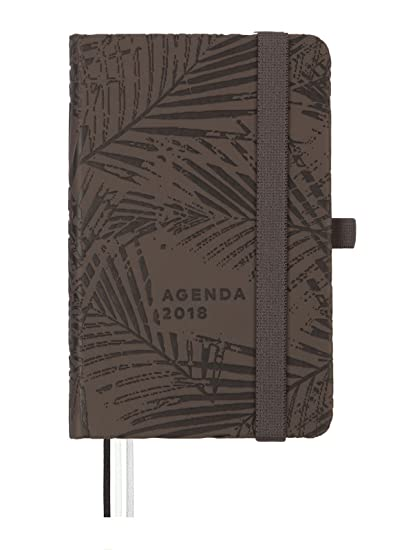 Finocam Design - Agenda 2018, semana vista apaisada, diseño kentia, español, 82 x 127 mm, 80 g/m²