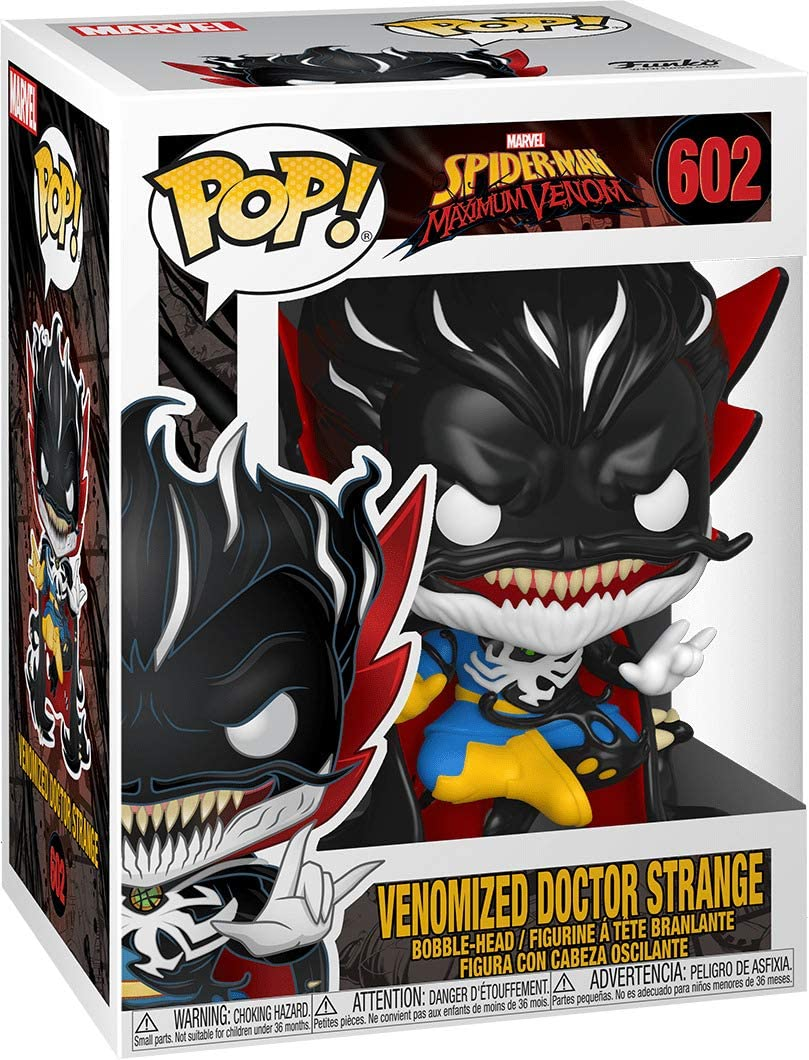 Funko- Pop Marvel: MAX Venom-Doctor Strange Figura Coleccionable, Multicolor (46458)