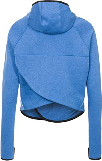 Amazon.com: Nike Tech Fleece Butterfly Full Zip Womens Hoodie Large Blue:  Sports & Outdoors