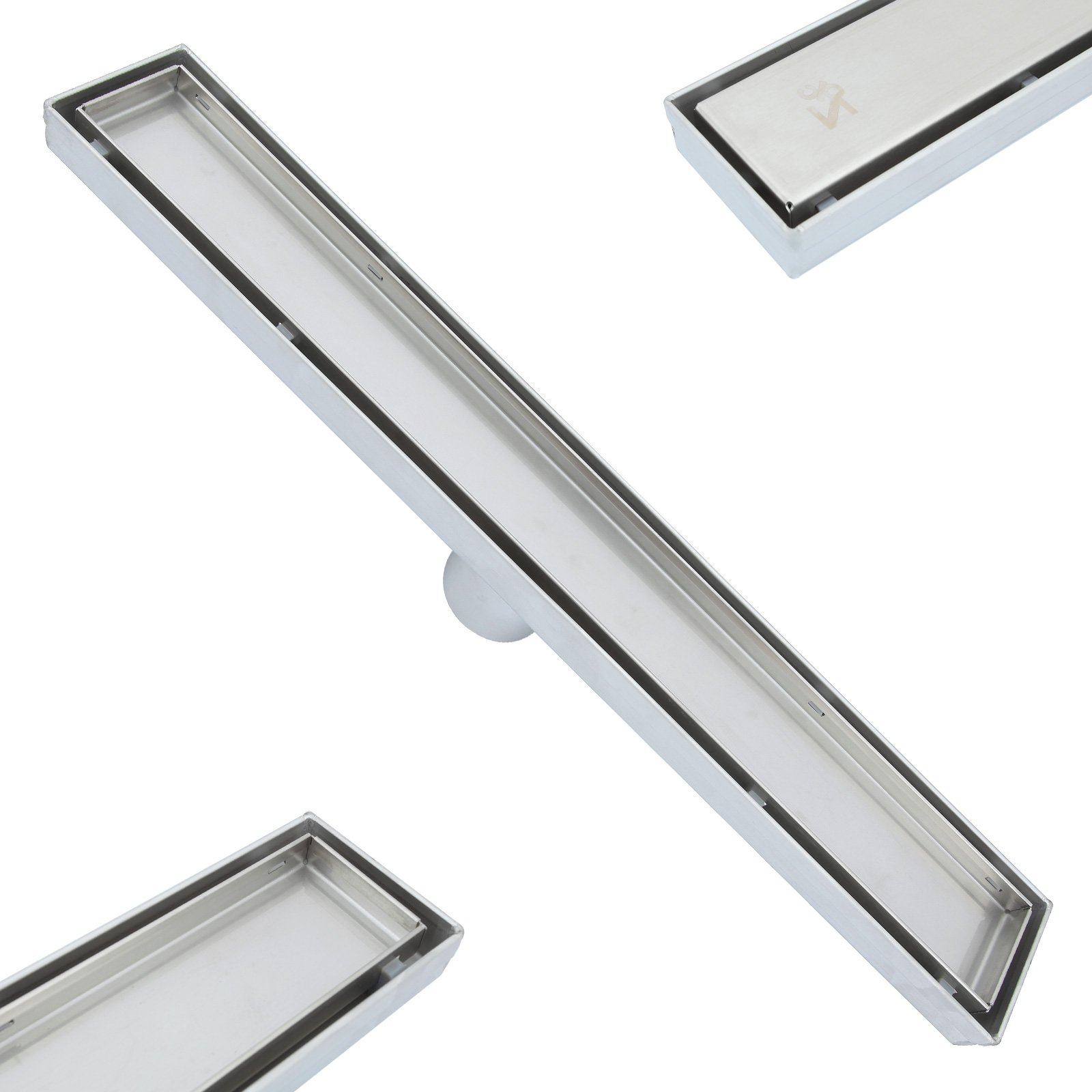 ZOIC 19.68/23.62/27.56/31.49/35.43 inches Linear Stealth Tile Insert Floor Grate Bathroom Shower Waste Drain-304 stainless steel (23.62''(600MM)) by ZOIC