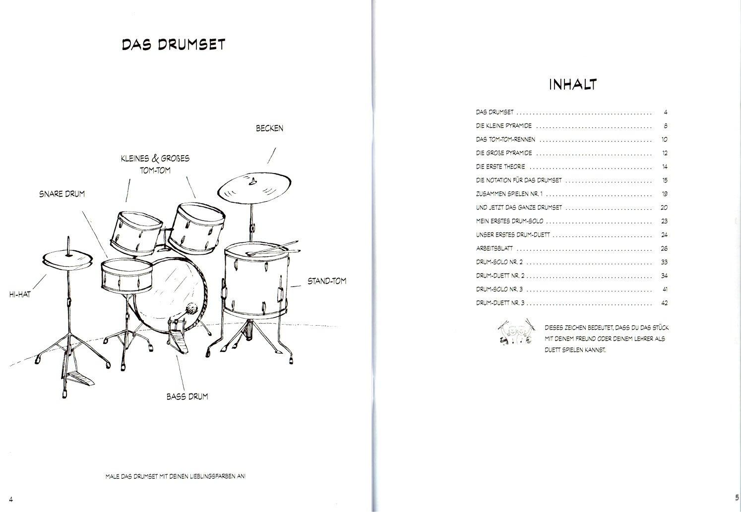 Schule für Drumset Band 1 - Schule von Gert Bomhof für Drumset den ...