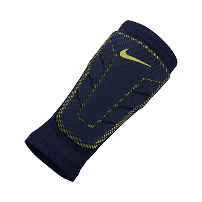f0c00528e6 Nike Mens Pro Combat Hyperstrong Compression Elite Shin Sleeve (2XL,  Black/Black/