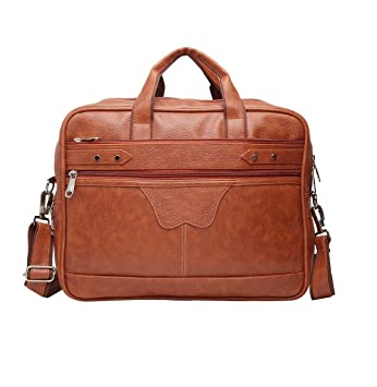 Quality Classy Unisex Laptop Office Travel Bag Faux Leather Removable Strap