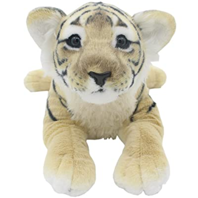 TAGLN The Jungle Animals Stuffed Plush Toys Tiger Leopard Panther Lioness Pillows (Brown Tiger, 19 Inch): Home & Kitchen [5Bkhe0200494]