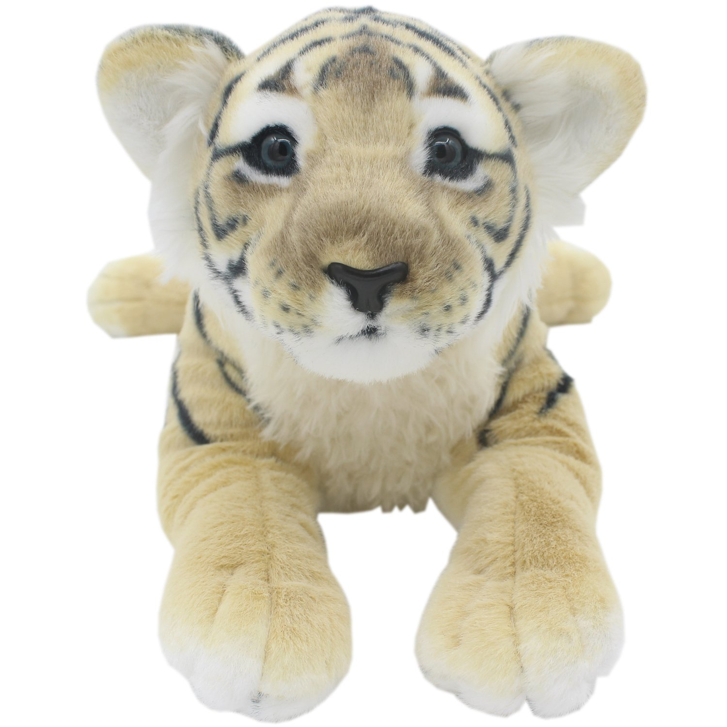 TAGLN The Jungle Animals Stuffed Plush Toys Tiger Leopard Panther Lioness Pillows (Brown Tiger, 16 Inch) by TAGLN