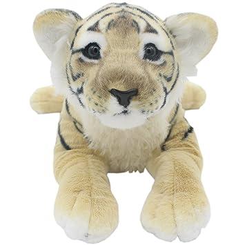 TAGLN Peluches Juguetes Tiger Animales Leopardo Guepardo León Pantera Almohadas (Tigre Marrón, 60 CM