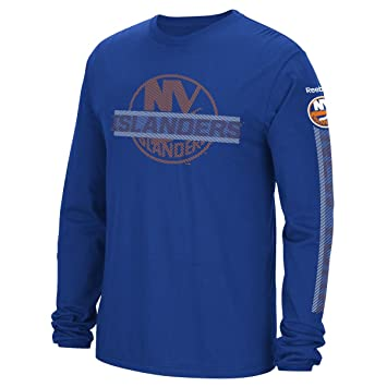hot sale online 1233a 7afdb Reebok New York Islanders NHL Men's Lineup Long Sleeve T-Shirt