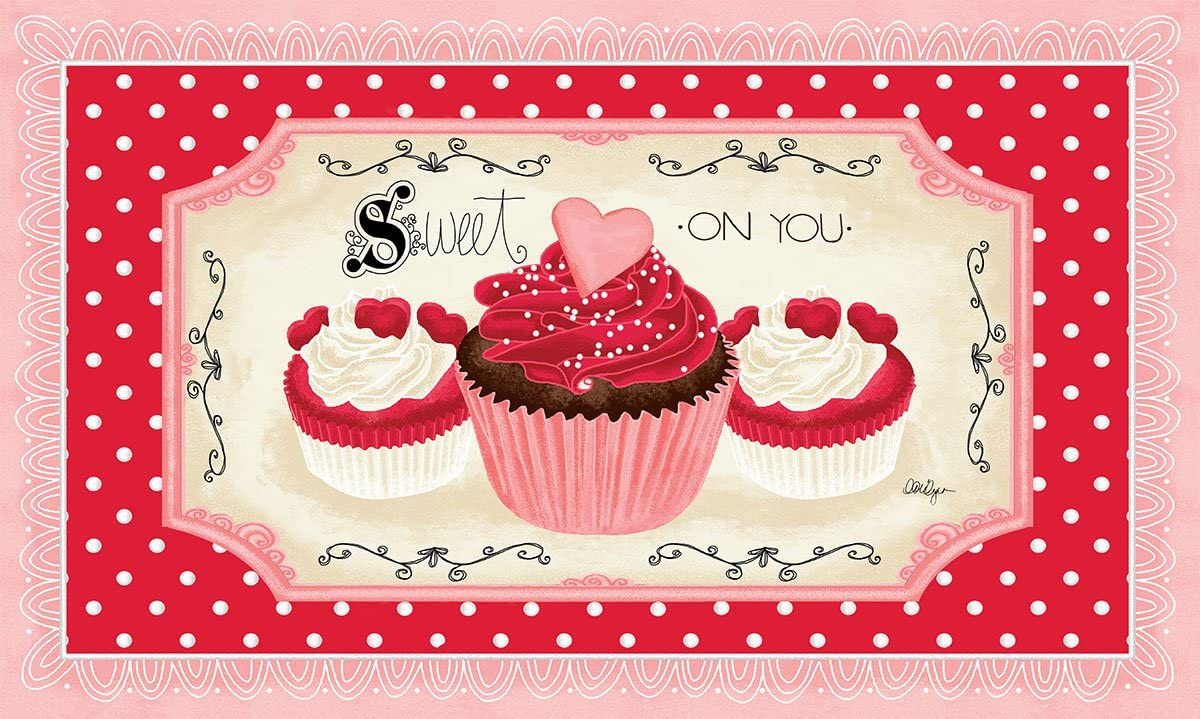 Lang 3210033 Sweet on You Door Mat by Lori Lynn Simms, 30 x 18