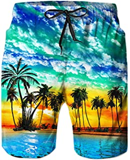 574a601826b3d Goodstoworld Mens Swim Shorts Funky 3D Prints Summer Quick Dry Beach Shorts  Surfing Trunks S-