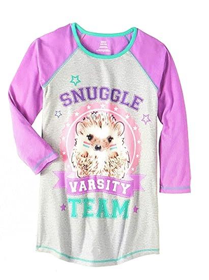 Amazon.com  Sleepwear Faded Glory Girls  Long Raglan Sleeve Sleep ... e32a32769
