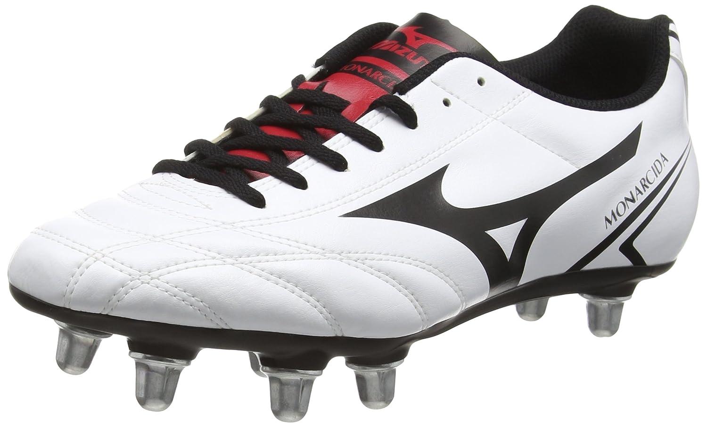 Mizuno monacrida Rugby SIブーツ B01FZRIU04 white/black/chines red 7