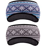 GoYonder Fleece Thermal Headbands Ear Warmers Ear Muffs (Set of 2 Colors)