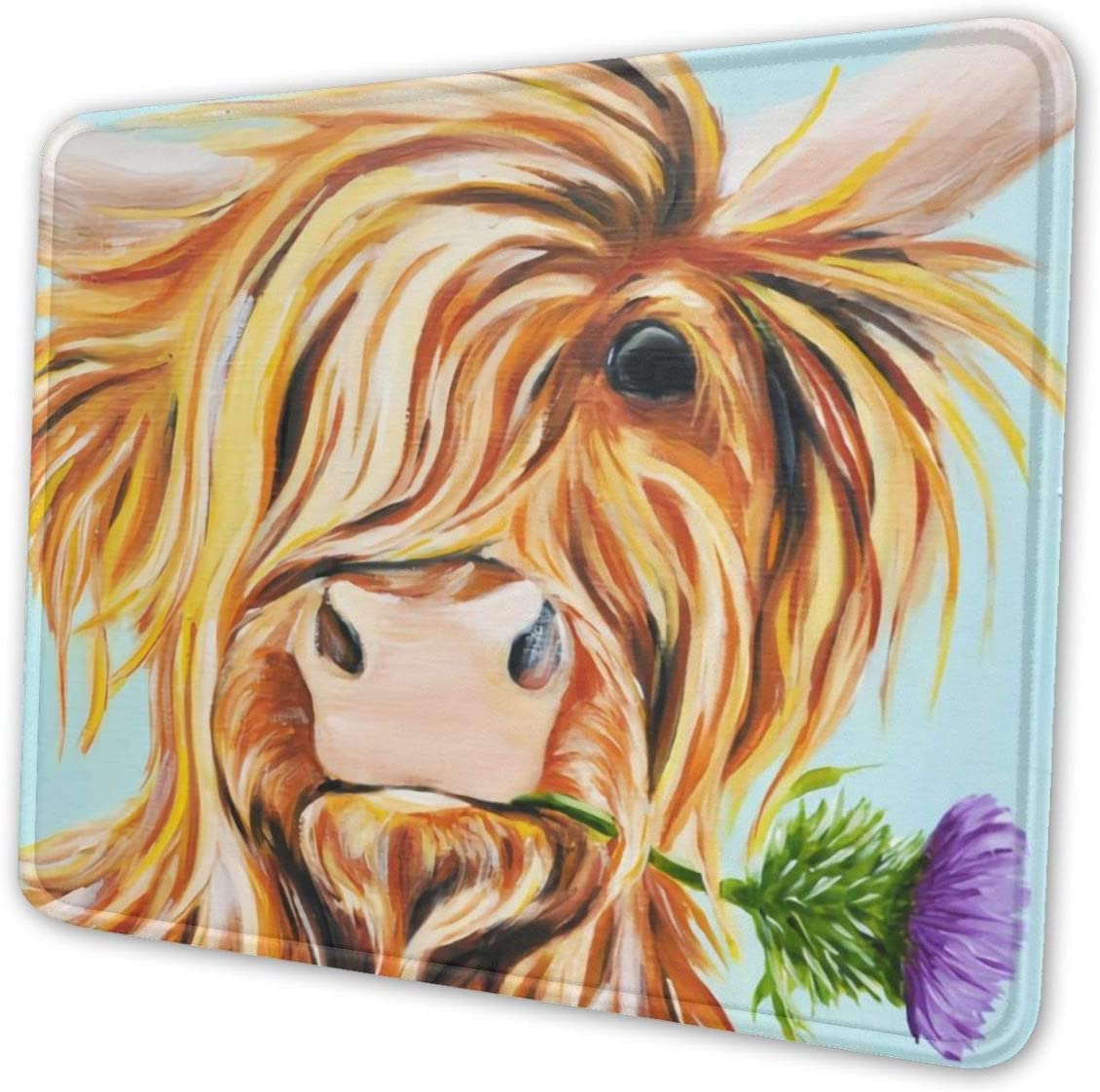 Scotland Cow Old Idea Theme Art Mouse Pad Natural Rubber Mouse Pad W//Printing of Border 10x12 Inches