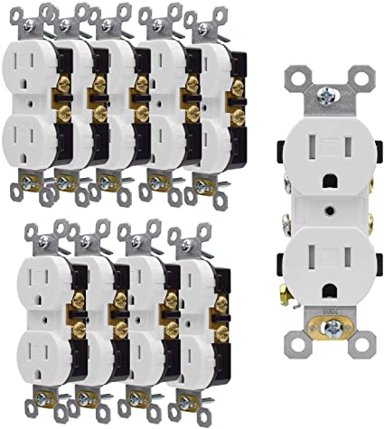 AIDA 15 Amp Wall Outlet 10 Pack